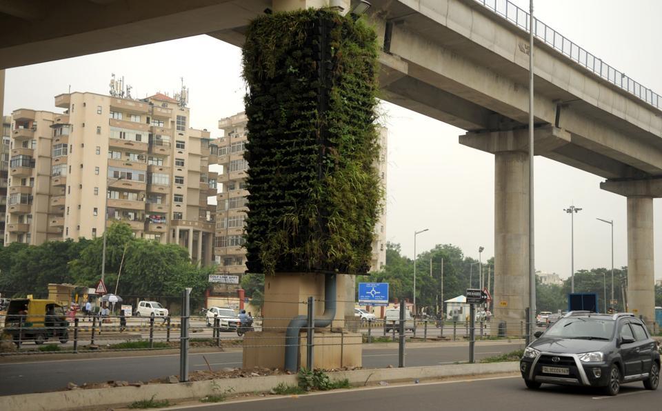 Municipal Corporation of Gurugram,MCG,vertical gardens