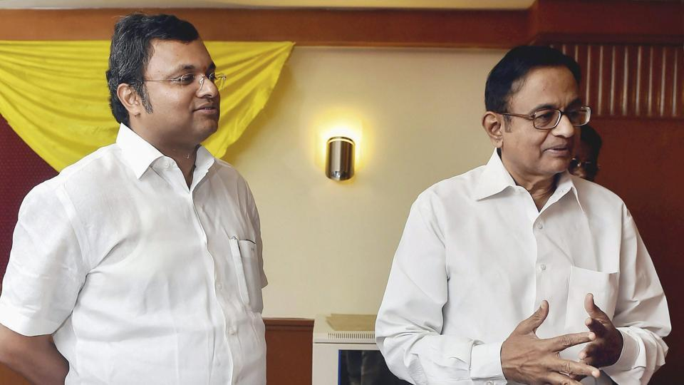 A Delhi court on Tuesday extended till October 8 the interim protection from arrest granted to former Union minister P Chidambaram and his son Karti in Aircel-Maxis cases filed by the CBI and the ED. Special CBI Judge OP Saini put up the matter for October 8 after the counsel appearing for the agencies told the court that the main counsel was not well and requested time. (R Senthil Kumar / PTI File)