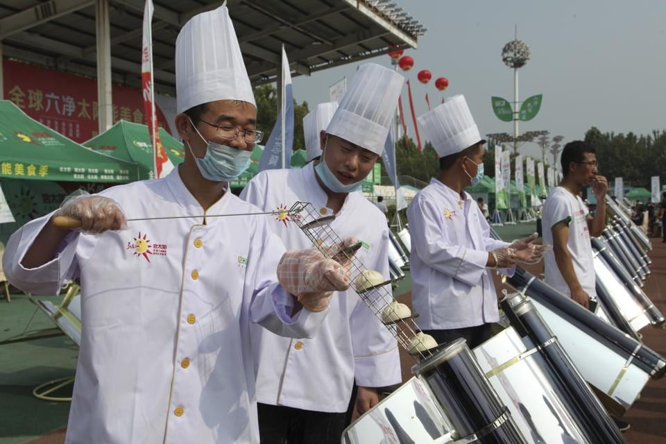 Solar Cookers,China,Cooking With Sun Energy