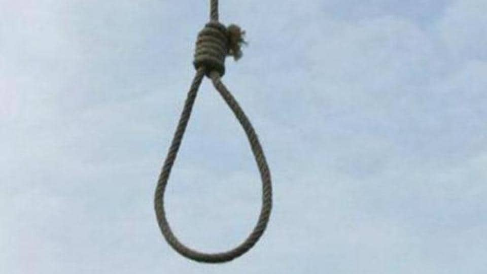 The 30-year-old victim was found hanging at her flat in Pileru town on Tuesday.