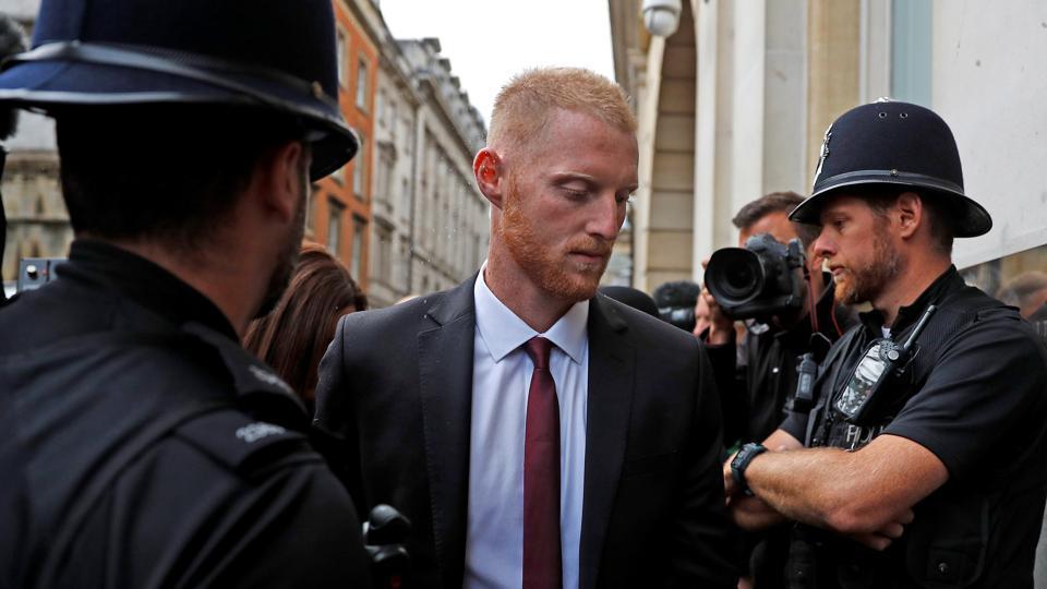 England cricket player Ben Stokes arrives at Bristol Crown Court, in Bristol, Britain, August 8, 2018.