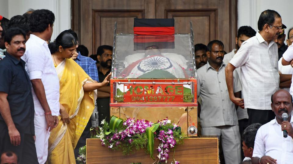 Image result for karunanidhi funeral