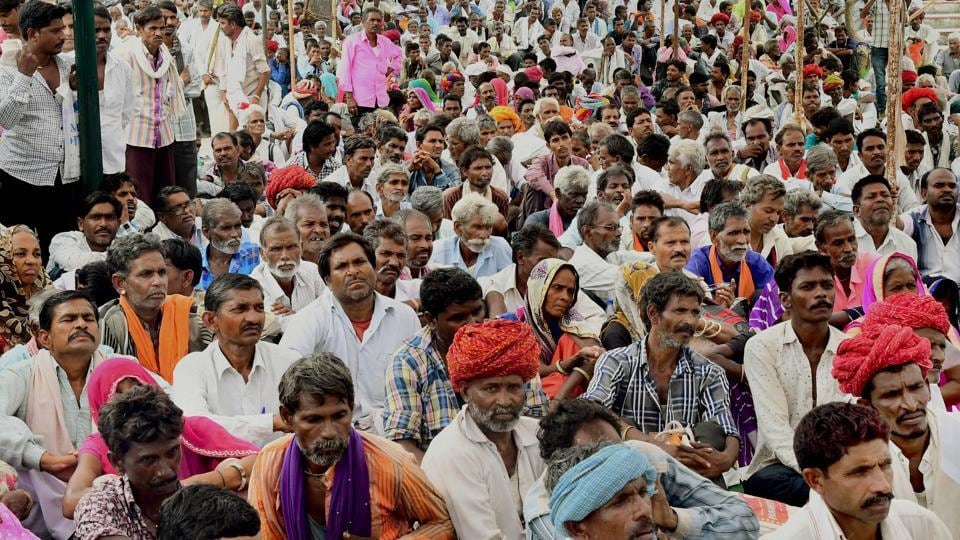 Silicosis patients from nine districts of Rajasthan attend a public hearing in Jaipur on Wednesday.