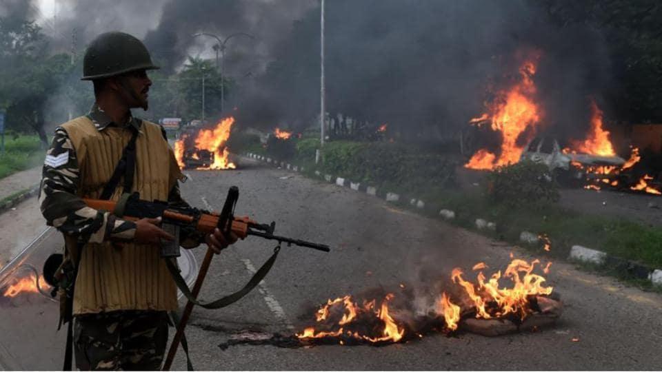 Panchkula violence,Haryana police,Aditya Insan