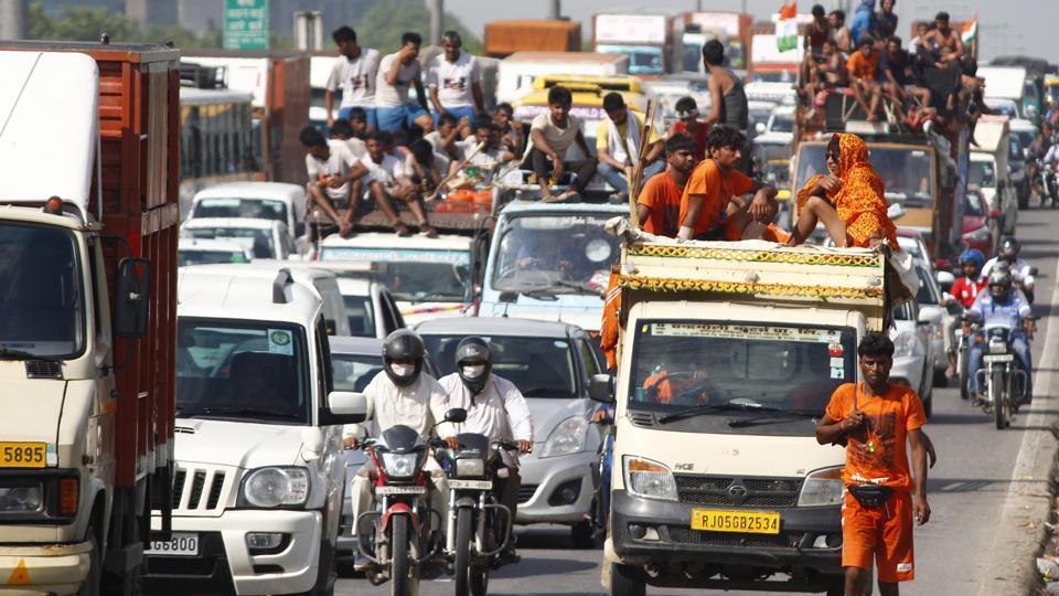 traffic,kanwariyas,Ram Niwas Goel