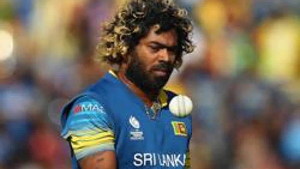 Lasith Malinga during the ICC Champions Trophy match between Sri Lanka and Pakistan at the SWALEC Stadium in Cardiff.
