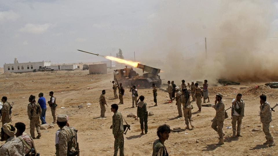 "Yemeni soldiers fire at al-Qaida positions in the southern province of Shabwa in 2014. ""Elements of the US military are clearly aware that much of what the US is doing in Yemen is aiding AQAP and there is much angst about that,"" said Michael Horton, a fellow at the Jamestown Foundation. But supporting the UAE and Saudi Arabia against Iranian expansionism takes priority over AQAP and even stabilizing Yemen, Horton said. (Yemen's Defense Ministry / AP File)"
