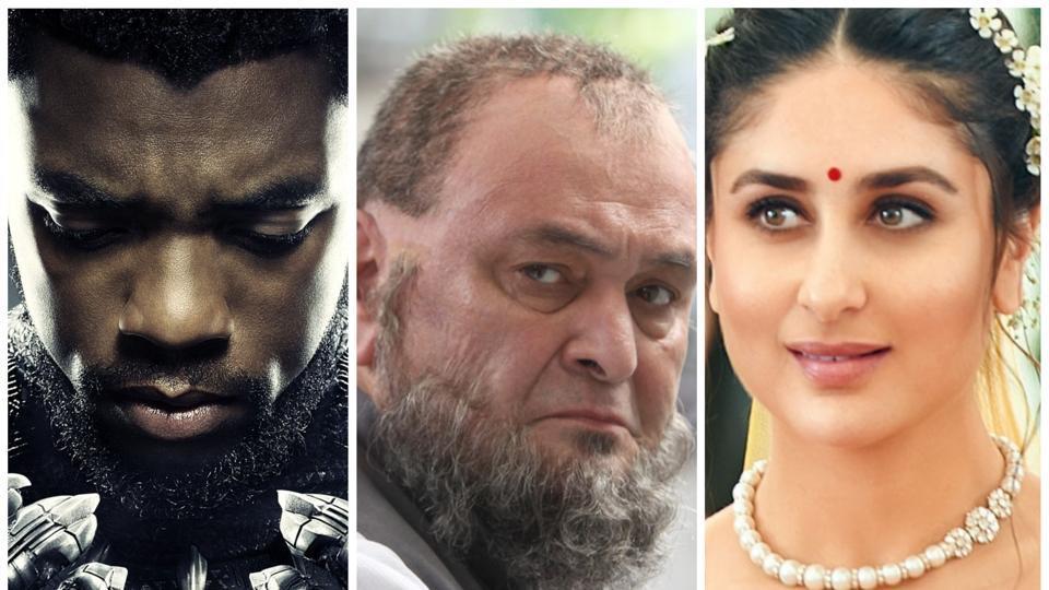 Chadwick Boseman as T'Challa, Rishi Kapoor and Kareena Kapoor.