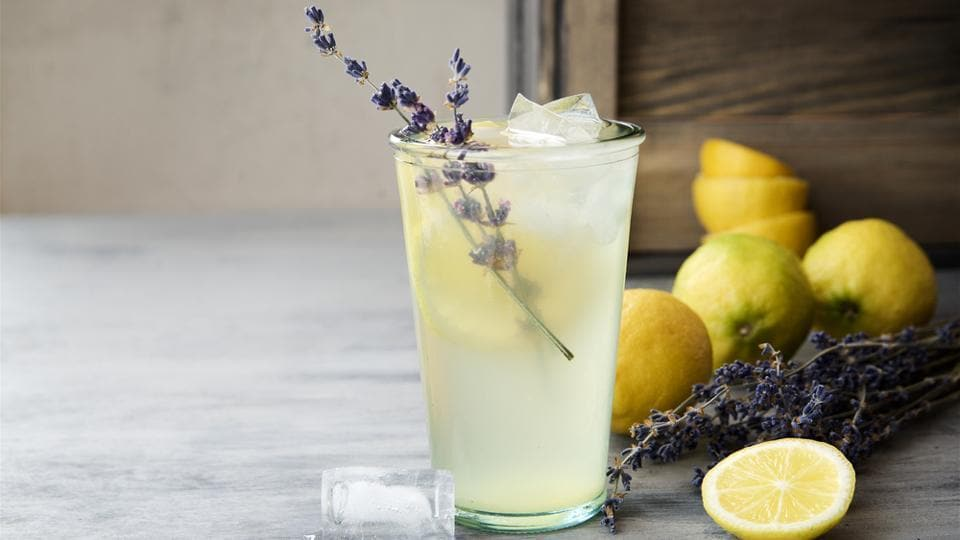 Instead of depending on the sugary lemonade, go for a lavender lemonade. Lavender adds a sweet twist to the drink and the combination looks good too.  (shutterstock)