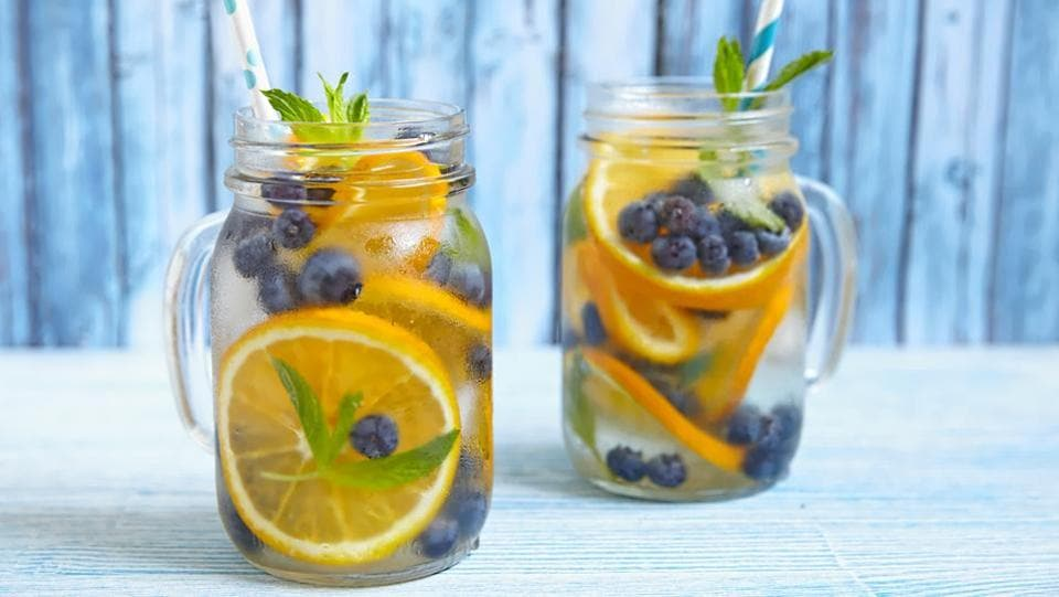 Yes, we understand that you've probably never heard of this odd combination, but do try it out. Orange and blueberry make for an interesting mix- instead of slicing the oranges you peel them and add it to your pitcher along with the blueberries. (shutterstock)