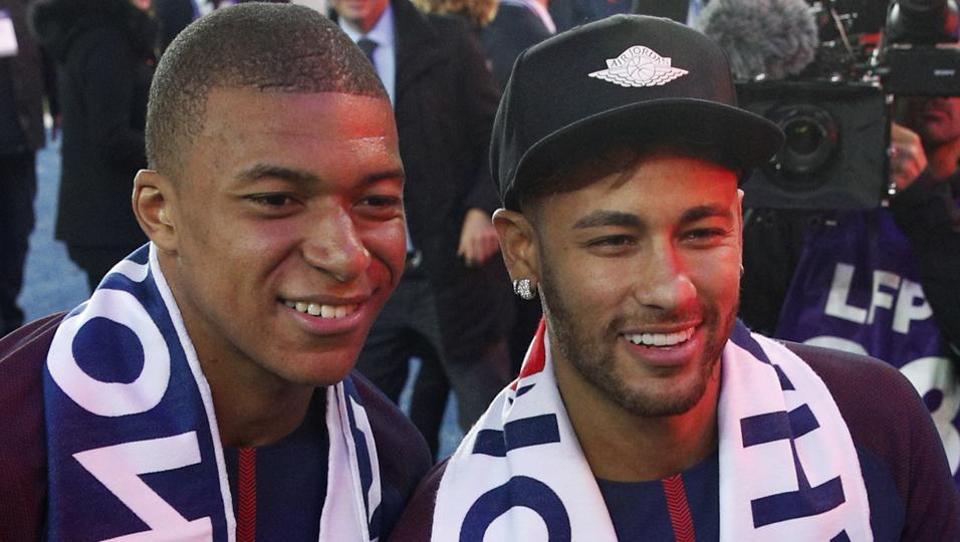 Neymar,Kylian Mbappe,Paris Saint-Germain