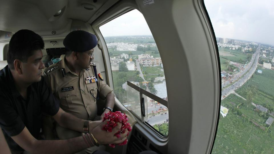 UP govt,chopper,kanwariya
