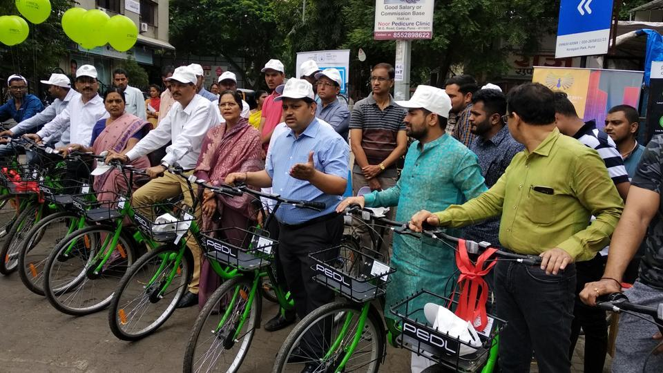 Koregaon Park,200 bicycles,public bicycle sharing scheme
