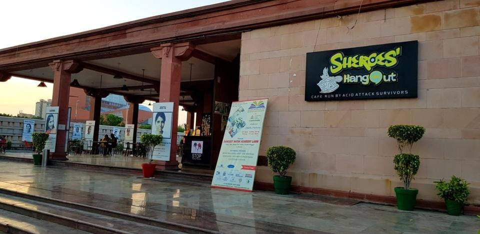 Sheroes Cafe, run by Chhanv Foundation(Stop Acid Attacks), opened in Lucknow in 2016.