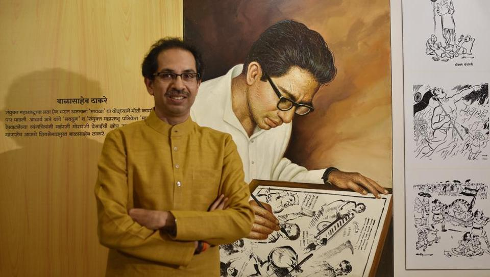 Shiv Sena chief Uddhav Thackeray at the Samyukta Maharashtra Memorial Museum near Shivaji Park in Mumbai recently.