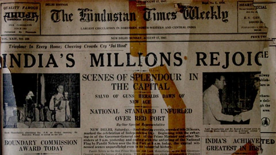 What the newspaper said about India's independence, back in
