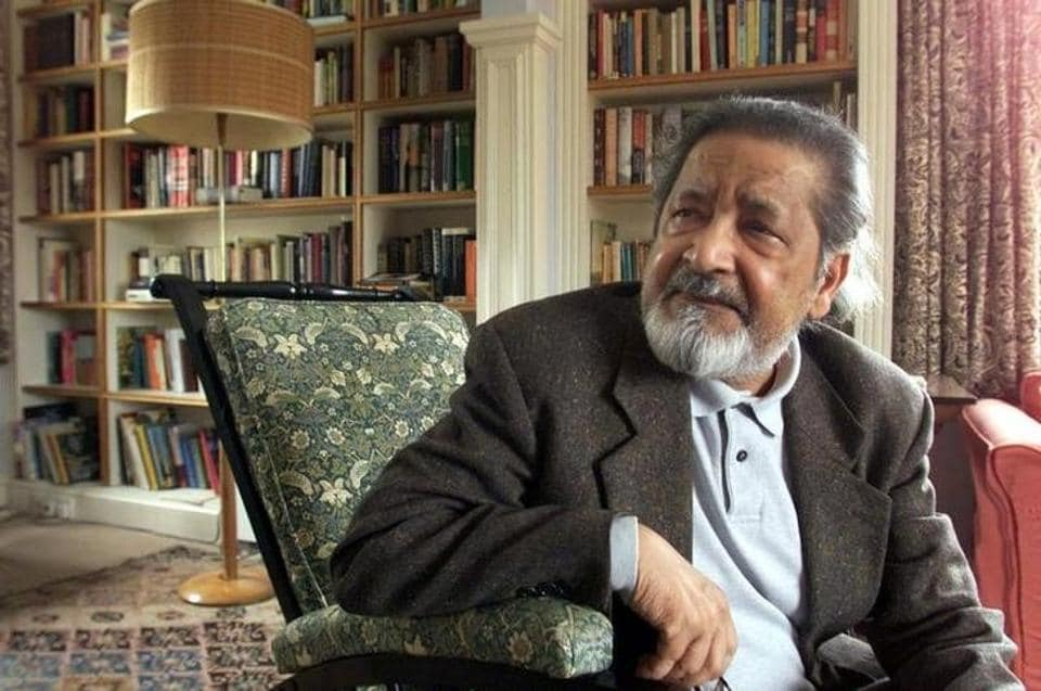 Author VS Naipaul who died on August 11, 2018 at age 85.