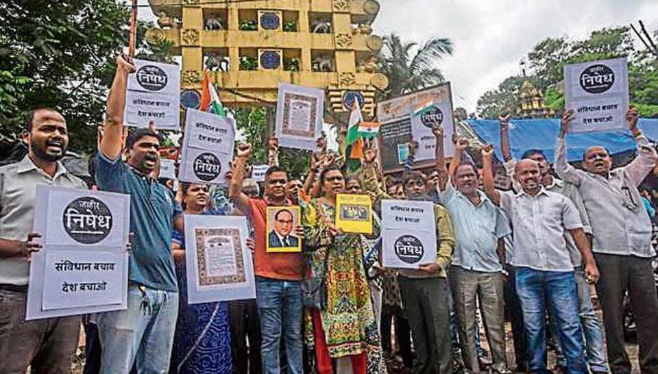 Indian constitution,RPI activists,Mumbai