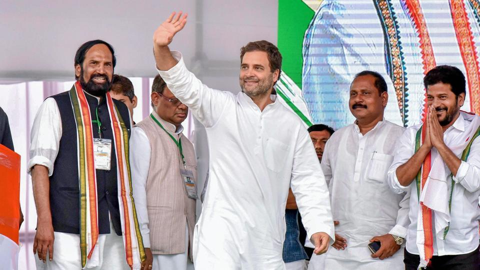 Rahul Gandhi in Hyderabad,K Chandrasekhar Rao,'Redesigning' is new name for corruption