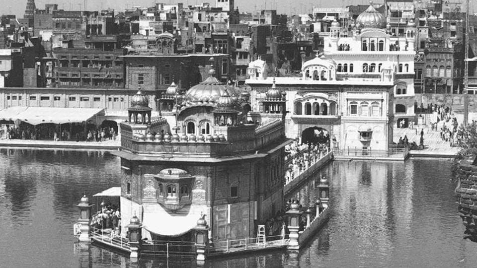 Operation Blue Star was launched by the Indira Gandhi government against the surging Khalistani movement in Punjab led by Jarnail Singh Bhindranwale on June 6,1984. The Sikh holy shrine of Akal Takht was swarmed by Indian armed forces and faced armoured shelling. The incursion and takeover of the Harmandir Sahib complex the following day was seen as an attack on the religion itself. (HT Archive)