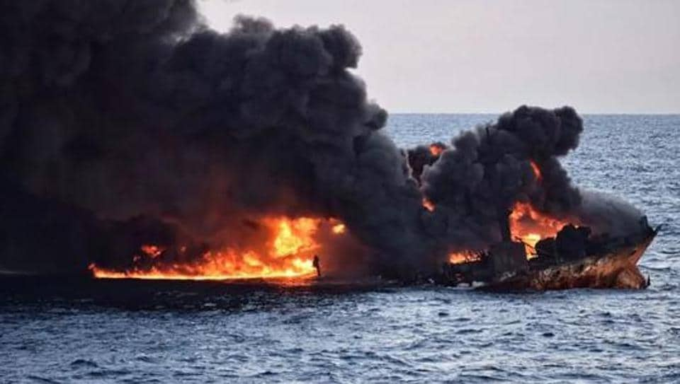 Explosion in Indian crude oil tanker off Oman coast, two casualties