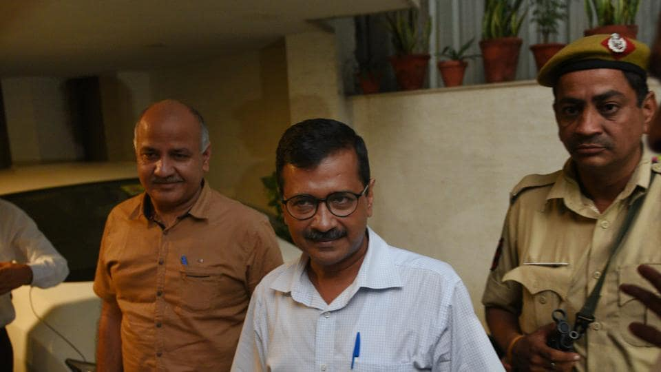 Arvind Kejriwal,deputy CM Manish Sisodia,Anshu Prakash