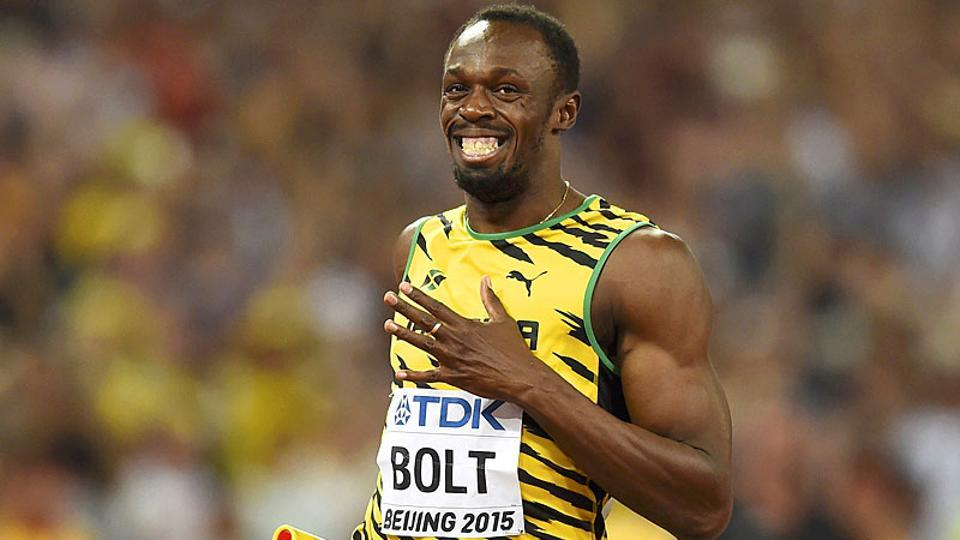Usain Bolt celebrates the day he beat himself to become ...