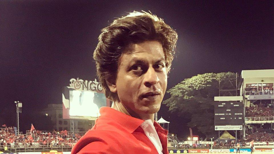 Shah Rukh Khan poses before the Trinbago Knight Riders and St Lucia Stars  game.
