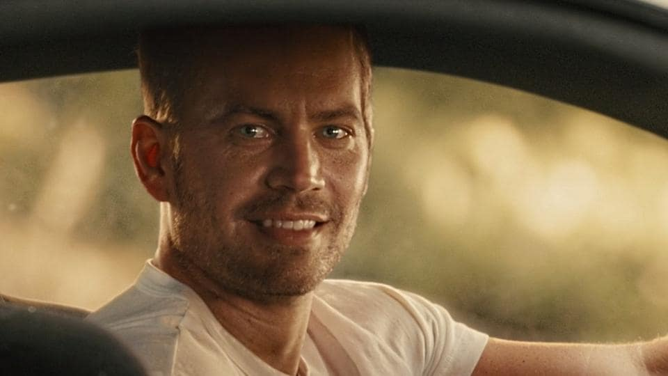 A computer generated version of Paul Walker at the end of Furious 7.