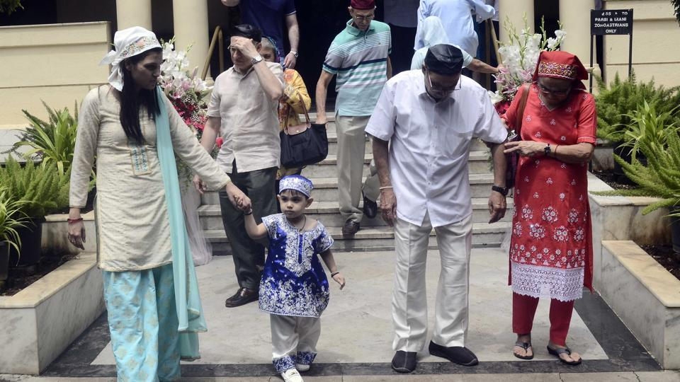 Parsi community celebrates their new year at Sir JJ Parsi Agiary in Pune on Friday. The Parsi community had migrated to India and follow Zoroastrianism, which was founded by Prophet Zarathustra in ancient Iran 3,500 years ago. Zoroastrians migrated to India to escape persecution following the Muslim conquest of Persia as Iran was then known. Parsi means Persian in Gujarati and marks the first day of the year for them. Zoroastrians in India celebrate this day as Jamshed-i-Nouroz, which is named after the Persian king Jamshed who started the Parsi calendar. (Ravindra Joshi/HTPHOTO)