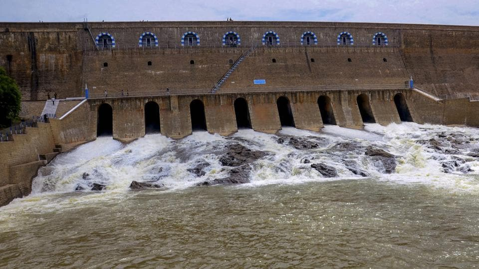 This is the first time since 2005 that there is such an overflow in the Cauvery, thanks to heavy rain in the river's catchment areas in Karnataka, following which about 170,000 cusecs were released from the Krishna Raja Sagara and Kabini dams in that state.