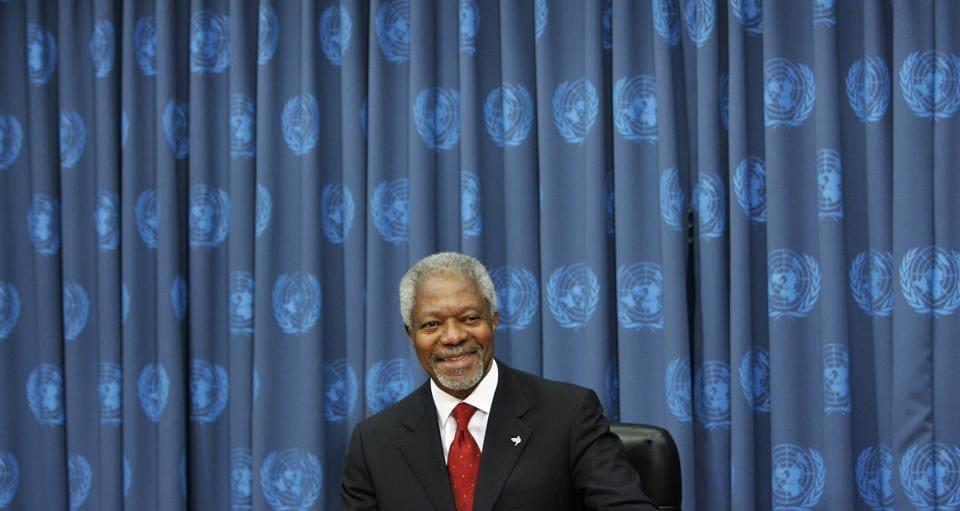 Kofi Annan,United Nations Secretary General,Nobel Peace Prize laureate Kofi Annan