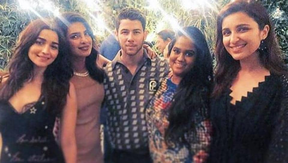 Inside Priyanka Chopra and Nick Jonas engagement party: the couple seen with Alia Bhatt, Arpita Khan Sharma and Parineeti Chopra.