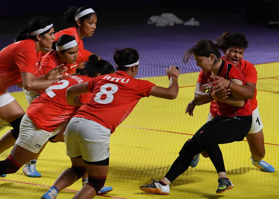 Japan was crushed by the Indian eves in Kabaddi (AFP)