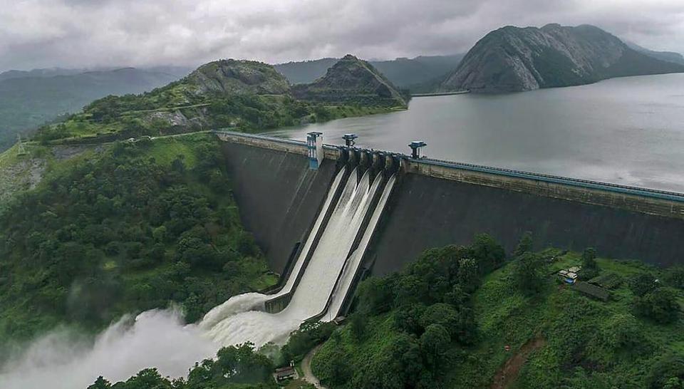 Idukki dam,sluice gates,kerala floods