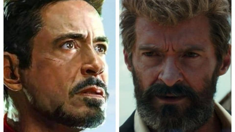 Robert Downey Jr as Iron Man and Hugh Jackman as Logan. Neither would probably be around to see this historic union.