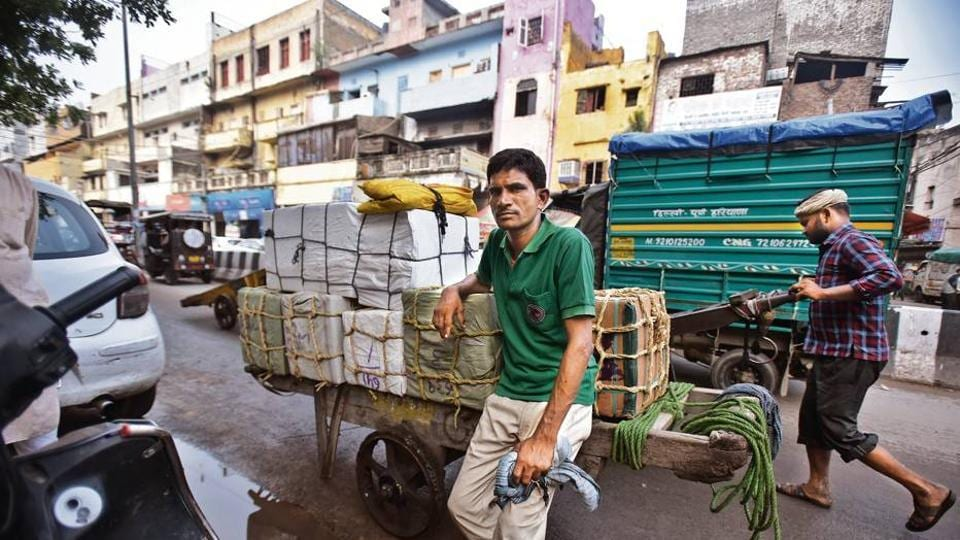 Premchand poses for a photo at Sadar Bazar in New Delhi, India, on Friday, August 10.