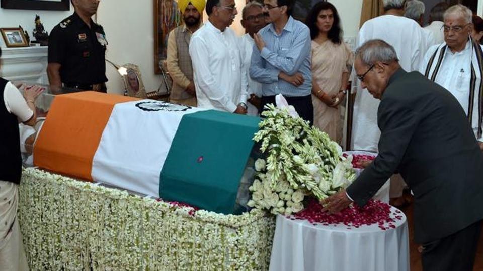 Pranab Mukherjee,Atal Bihari Vajpayee,Atal Bihari Vajpayee death