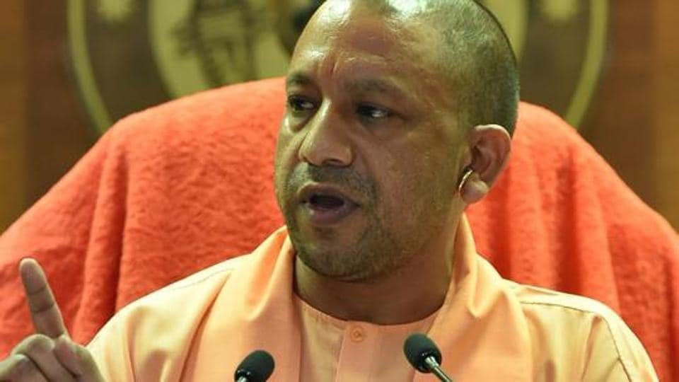 UP Chief Minister Yogi Adityanath addresses a press conference in Lucknow on August 7, 2018.