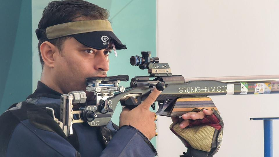 Sanjeev Rajput won the sliver medal in 50m rifle men's shooting at the Asian Games 2018.