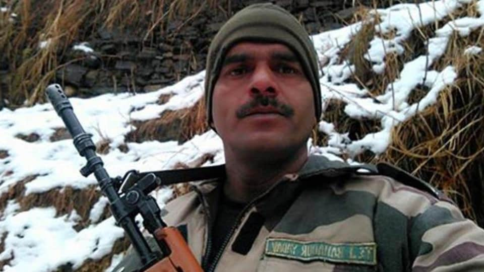 BSF jawan,video on food,Facebook