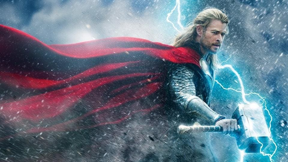 Chris Hemsworth as Thor in a still from The Dark World.