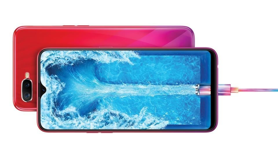 Oppo F9 Pro's Vooc charging technology is said to deliver up to 2 hours of talktime on just 5 minutes of charge