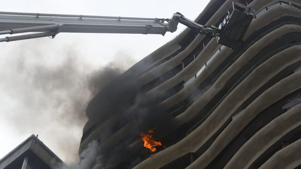 Mumbai fire,fire in parel,crystal tower mumbai