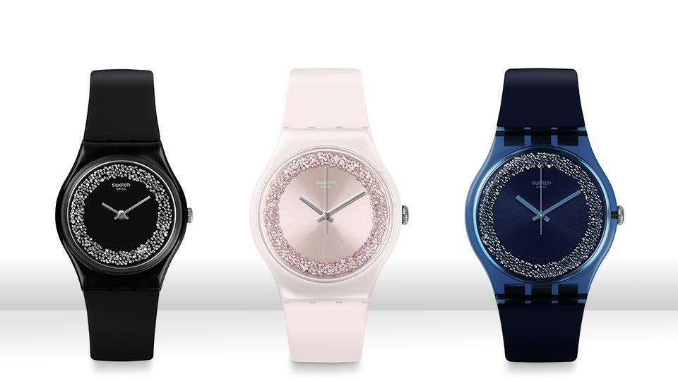 The lure of glitter: No festival is complete without some sparkle. And don't these elegant timepieces tell you why? (Launching in September) (SWATCH)