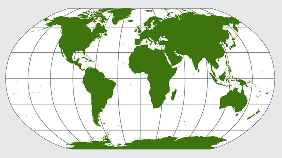 True Size Map Of The World.New World Map Depicts Continents True To Their Actual Size World
