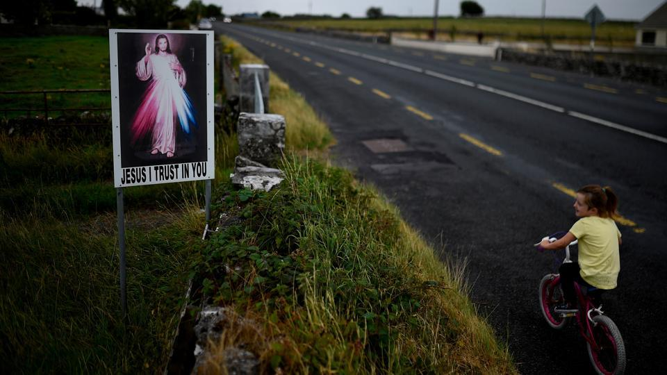 Religion is still deeply embedded in the face of the Irish countryside - roadside grottos with statues of the Virgin Mary a feature of almost every Irish town and village, with most erected in 1954 when the Vatican called for a Marian year of celebration and devotion. (Clodagh Kilcoyne / REUTERS)
