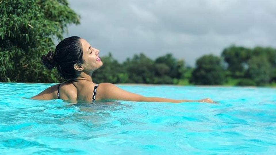 Hina Khan,Hina Khan vacation,Hina Khan vacation pics