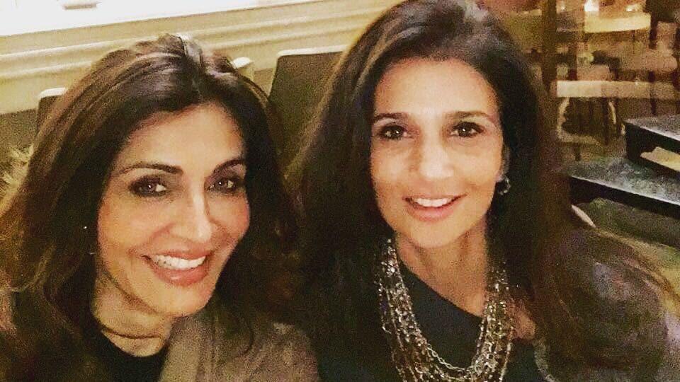 Queenie Singh (left) with Rhea Pillai.