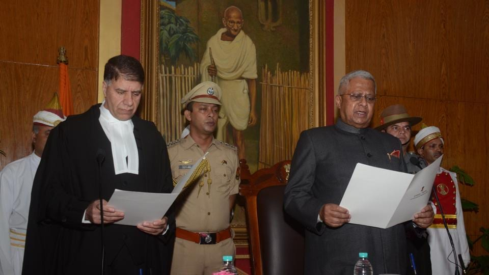 Tathagata Roy was sworn in as the 18th governor of Meghalaya at a function at the Raj Bhavan in Shillong on August 25.